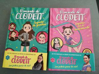 2 libros del el mundo de clodett