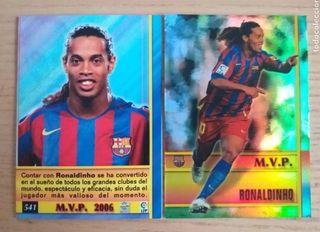 Ronaldinho cromo 06-07. Fútbol.