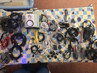 Lote cables y accesorios Pc, audio, tv y consolas