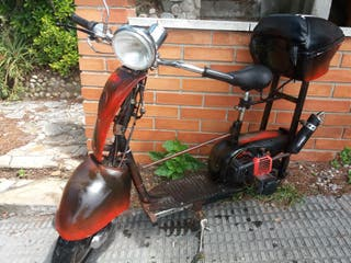 patín con motor gasolina