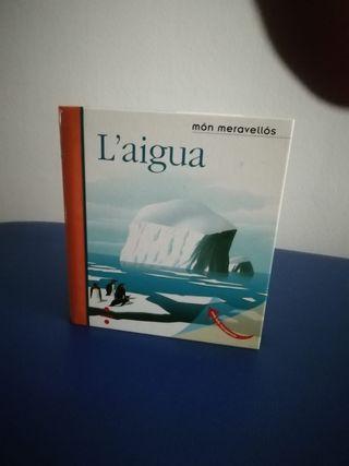 """""""L'aigua"""" libro de niño de 3 a 6 años"""