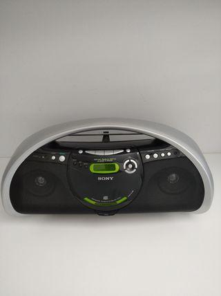 Radio CD cadena Sony portatil