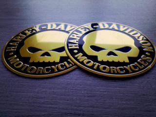 EMBLEMA LOGO HARLEY DAVIDSON MOD MOTORCYCLES GOLD
