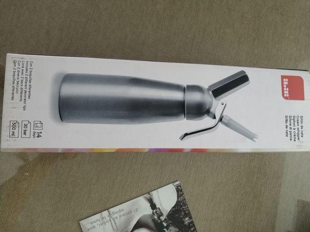 sifón de cocina + carga cápsulas nata sin estrenar