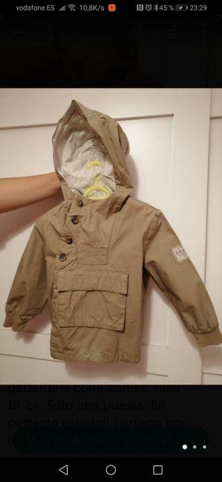 Gabardina chaquetón niño Zara