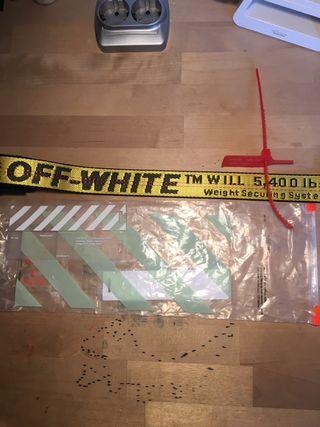 Cinturón Off White (off white belt)