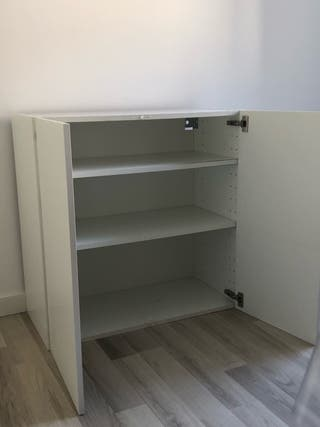 Mueble IKEA almacenaje blanco colgar en pared