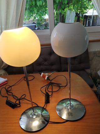 Lámparas de diseño de mesa.