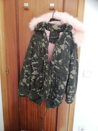 abrigo militar, pelito rosa