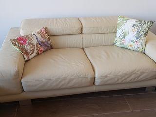 sofas lujo de diseño. cuero alta calidad