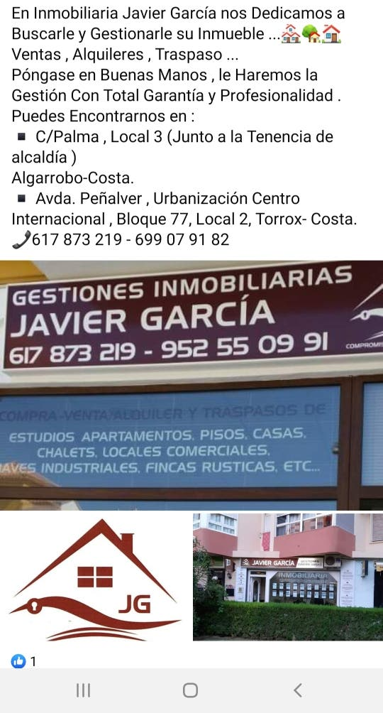 Casa en alquiler (Algarrobo-Costa, Málaga)
