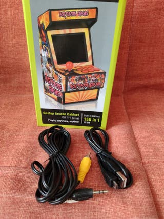 Consola mini retro arcade.