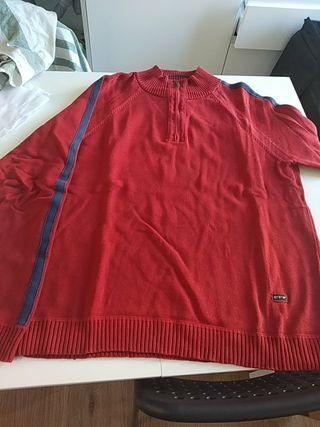 jersey algodon rojo