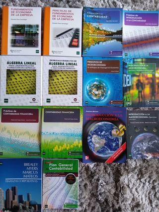Libros UNED. 1er curso ADE 2014-15