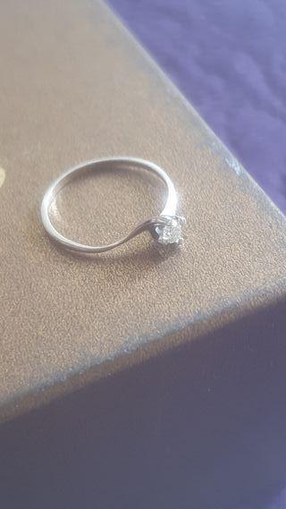 "Anillo ""Iris"" Oro Blanco 18k y Diamante. Cartier"