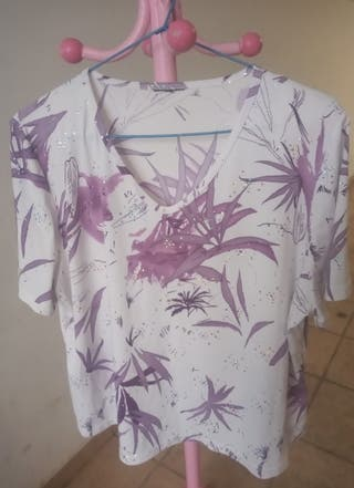 camiseta con strass