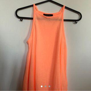 Flurescent Orange Tank Top