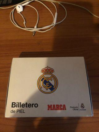 Billetera de piel real Madrid sin usar