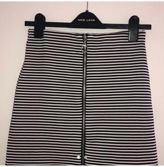 Striped Smart Mini Skirt
