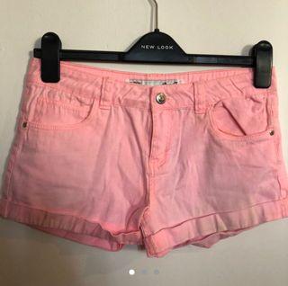 Real Pink Denim Shorts
