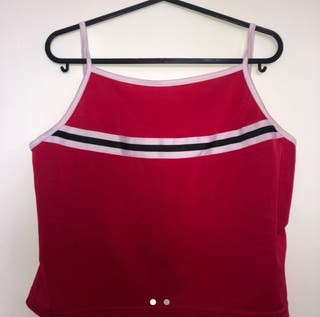 Red Sports Tank Top