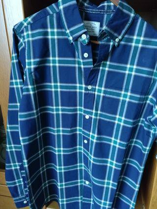 Camisa de cuadros , talla L , puesta en contadas ocasiones