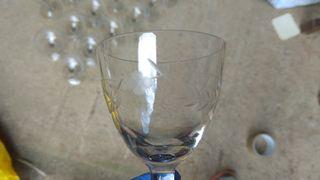 REBAJADO Cristalería tallada antigua 1950