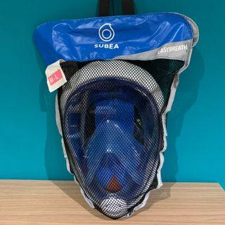 Máscara de snorkel EASYBREATH AZUL MARINO