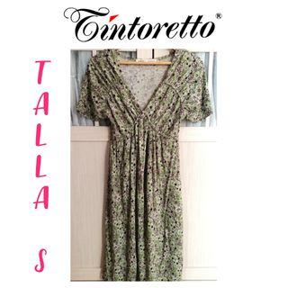 D 75€ a 6.95€! Vestido largo talla 36 S verde