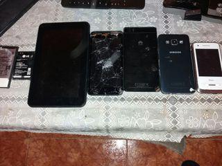 vendo móviles para piezas y batería y una tablet