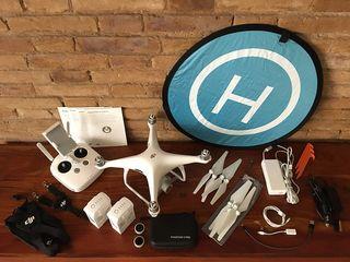 Drone DJI Phantom 4 PRO (2 baterías + elementos)