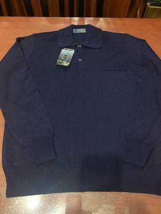Jersey caballero manga larga color azul marino