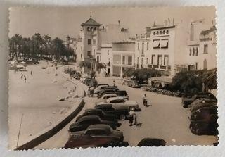 Postal de Sitges -Paseo del Mar- años 50'