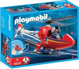 PLAYMOBIL Lote 3 vehículos: helicóptero, 4x4, quad