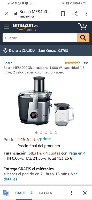 licuadora Bosch semiprofesional