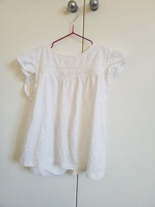 Camiseta Niña Cmanga corta Blanca talla 10 (140cm)