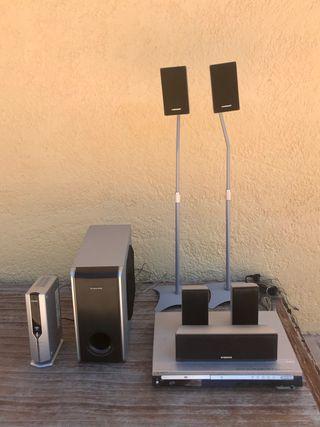 Amplificador sonido envolvente 5.1 Inalambrico
