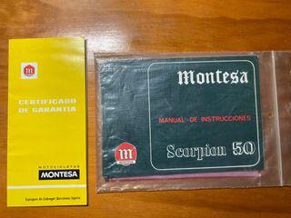 Manual de instrucciones Montesa Scorpion 50