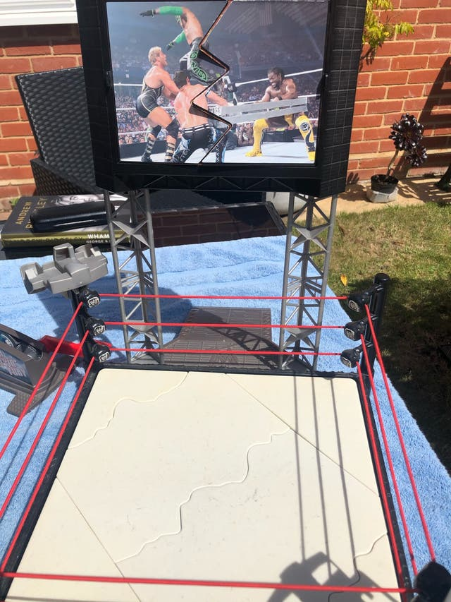 WWE ring and tv stand