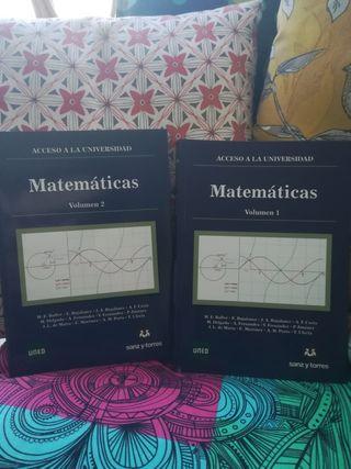 Matemáticas Volumen 1 y 2 UNED