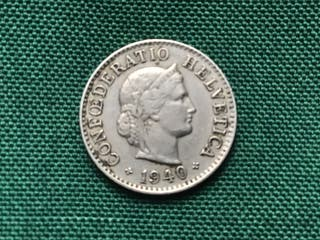 MONEDA 5 Céntimos. SUIZA. AÑO 1940