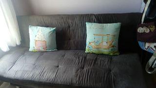 Sofa cama gris oscuro