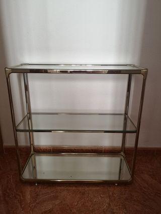 mueble recibidor con cristal