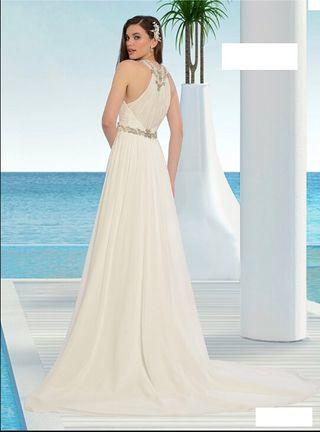 Vestido novia 42/44 blanco roto