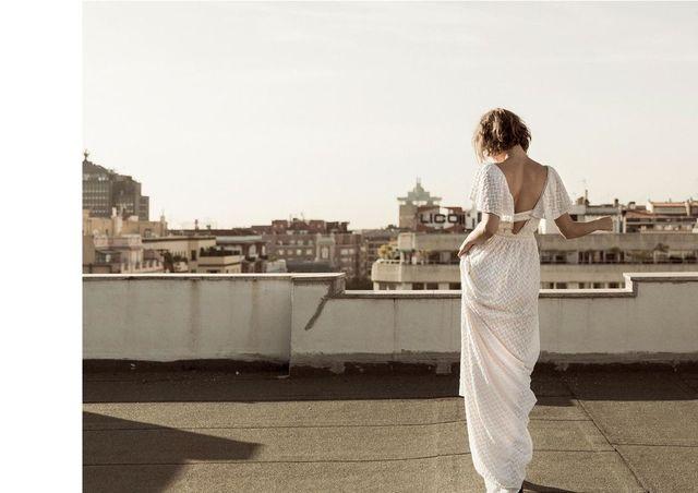 Vestido novia Hoss Intropia, talla 34 de segunda mano por