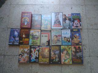 Se venden cintas de vídeo antiguas