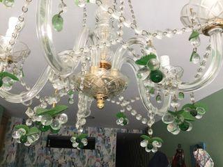Lámpara de araña y cristal