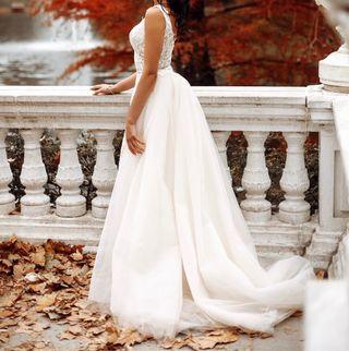 Vendo vestido de novia.