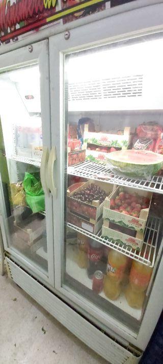 nevera expositora de frutas y verdura