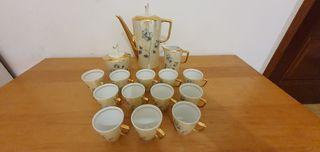 Juego de Café de Porcelana Vintage